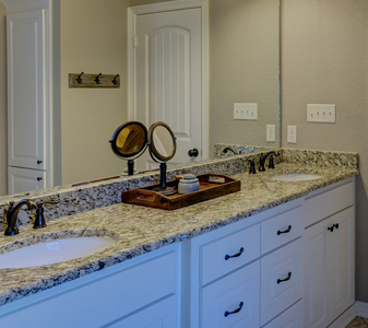 Wadsworth carries beautiful vanities, coordinating fixtures, decorative tile, tile inlays and more