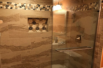 Bathroom remodel by Wadsworth Flooring and Home In South Daytona Florida